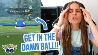KYOGRE IS A PAIN TO CATCH OMG! Pokemon GO Vlog | ZoeTwoDots
