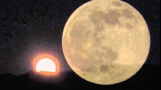 Catalina Mountains AZ Full Moon Rising June 12 2014