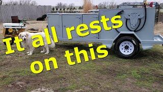 Frame -  Custom Fuel Trailer Build - 3rd Video