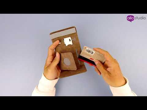 Ví tiền đa năng allocacoc miniWallet Cash, nhỏ gọn và tối giản.