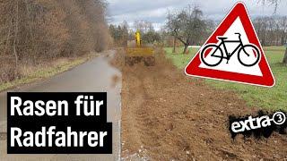 Realer Irrsinn: Verengter Radweg in Stuttgart