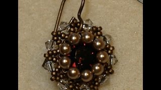 Sidonia's handmade jewelry - Vintage Swarovski beaded earrings