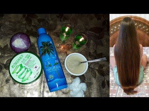 How to grow long thicken hair with onion,Aloe vera world best remedy in hindi urdu