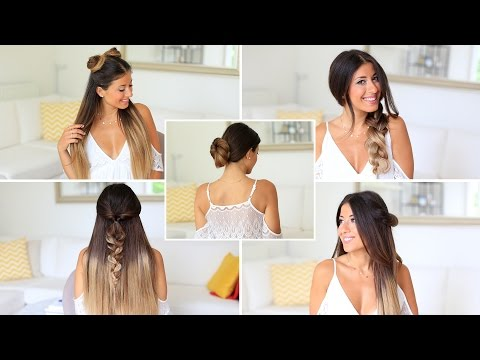 5 SUPER EASY 1 Minute Heatless Hairstyles   Luxy Hair