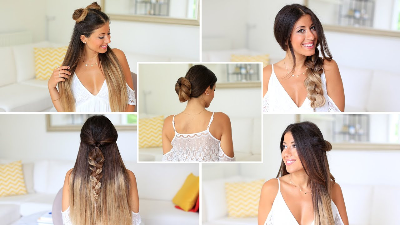 5 SUPER EASY 1 Minute Heatless Hairstyles