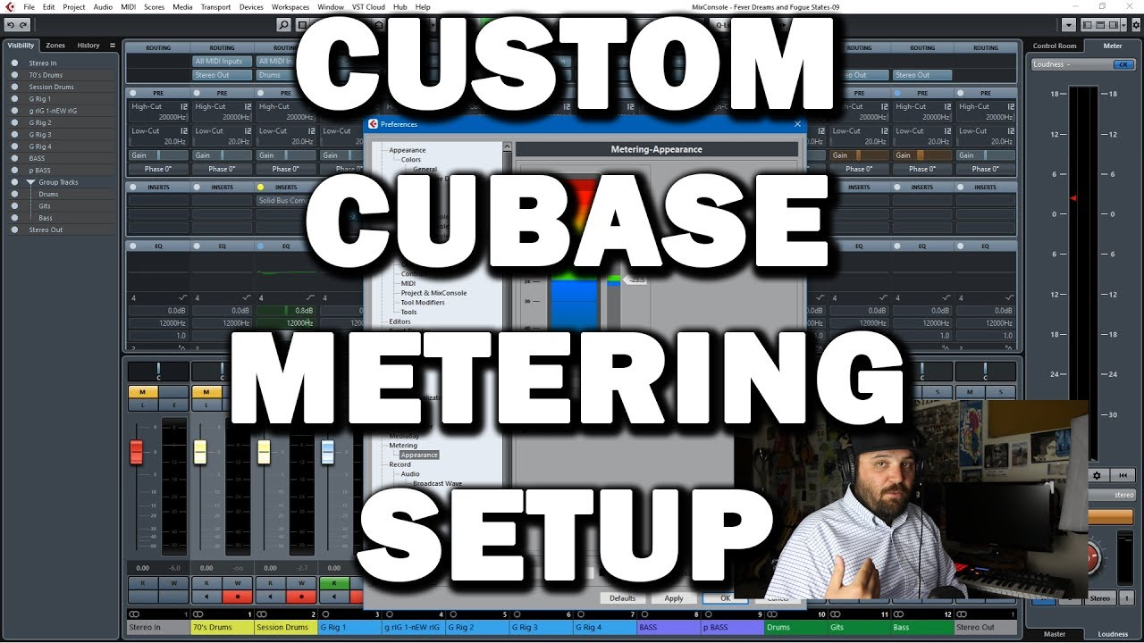 Cubase Tips and Tricks: Change the Default Metering Setup to Make Gain Staging Easier