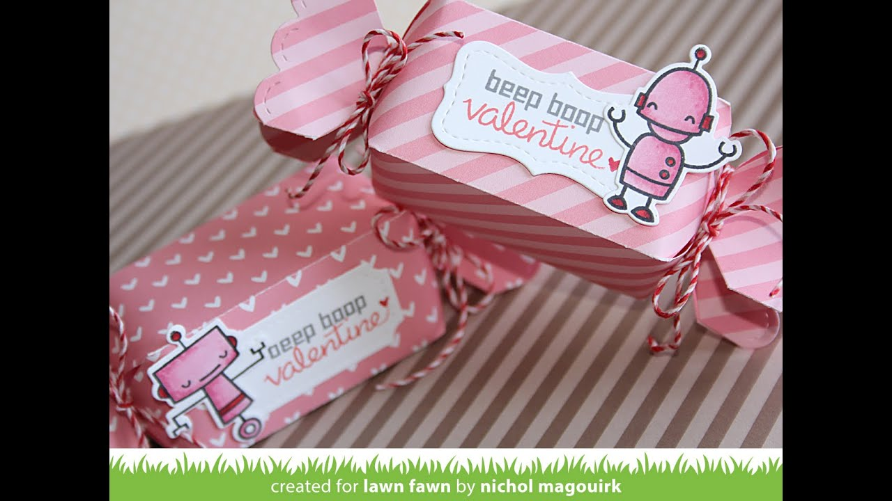 Lawn Fawn Candy Box And Stitched Labels YouTube
