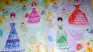 Đồ chơi cho bé gái - Dán hình trang điểm váy đầm cho công chúa - Tập 8