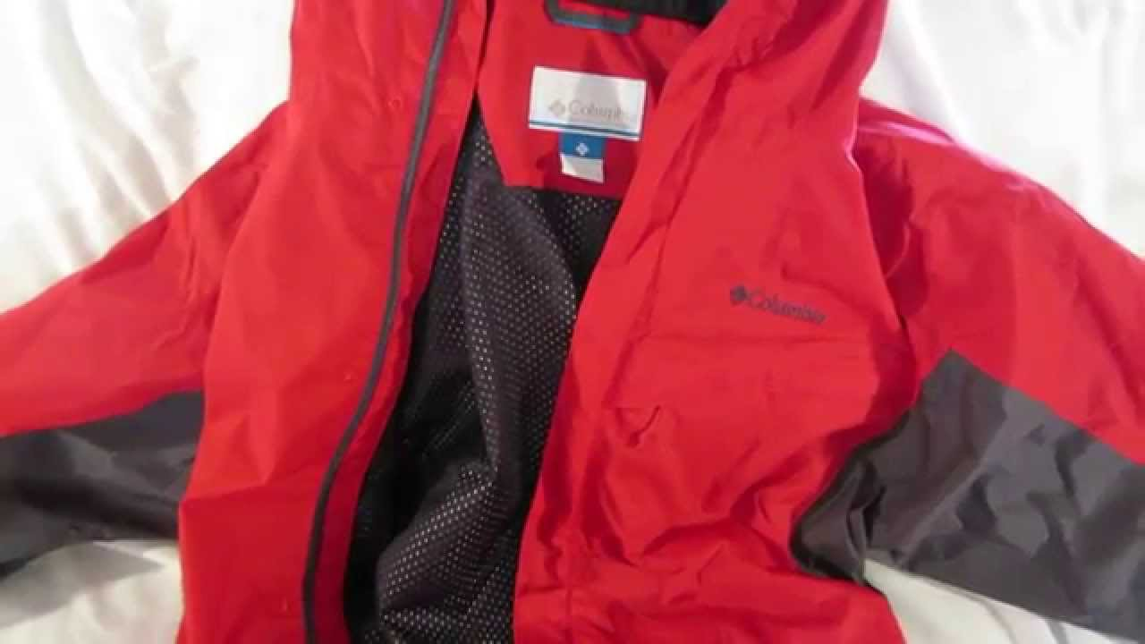 1b58a4a03e9ee Columbia Watertight Packable Rain Jacket review - YouTube