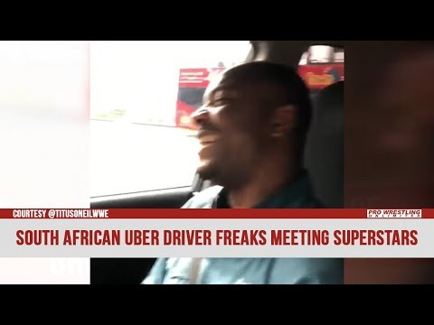 South African Uber Driver Freaks Out Meeting WWE Superstars (VIDEO)
