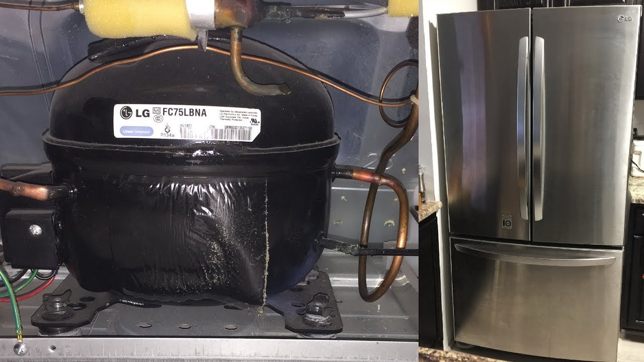 refrigerator not cooling working lg french 3 door bottom freezer fridge loud compressor noise fix [ 1280 x 720 Pixel ]