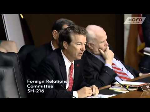 John McCain makes stupid faces while Rand Paul questions John Kerry