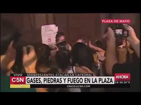 Feminists try to burn down cathedral: Argentina