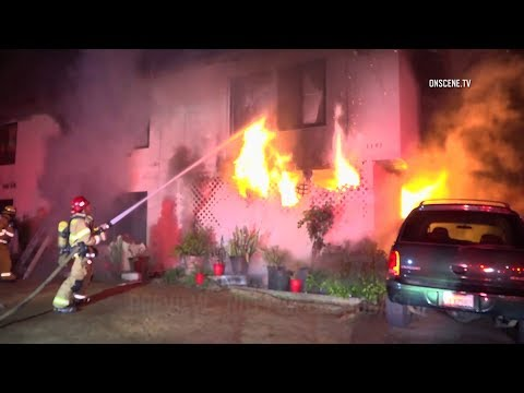 Residents Jump From Apartment Building Amid Second-Alarm Fire In Garden Grove