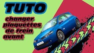 TUTO changer plaquettes de frein avant Mégane 2 (how to change brake pads)