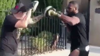 Jon Jones Trains for UFC Comeback in His Driveway