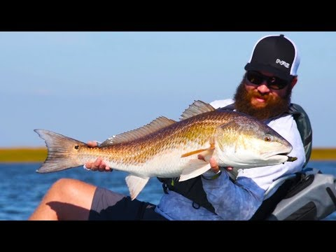 Kayak Fishing: Sight-casting To BIG Redfish | MTB Challenge Ft. Flukemaster