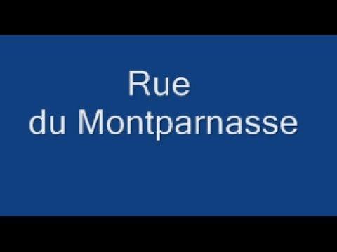 Rue du Montparnasse Paris Arrondissement 6e et 14e