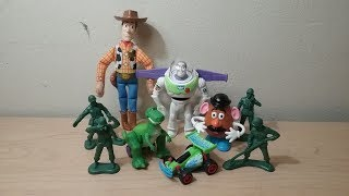 1995 DISNEYS TOY STORY SET OF 6 BURGER KING KIDS MEAL MOVIE TOYS VIDEO REVIEW