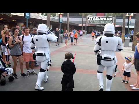 Thumbnail: Star Wars Escort to Kylo Ren 4-16 First Order Hollywood Studios (must watch ending)