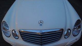Mercedes E Class W211 встановили бі світлодіодні модулі Оптима в фари Чищення та полірування фар