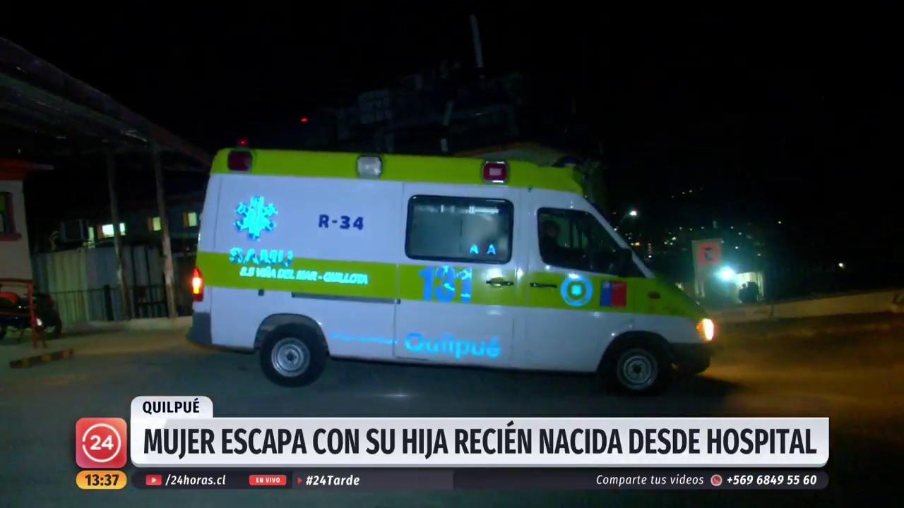 839fa47a7bf8 Mujer escapa con su hija recién nacida desde Hospital de Quilpué ...