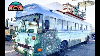 He Bought A Half Built Bus & Recycled Materials To Build This Totally Custom Skoolie