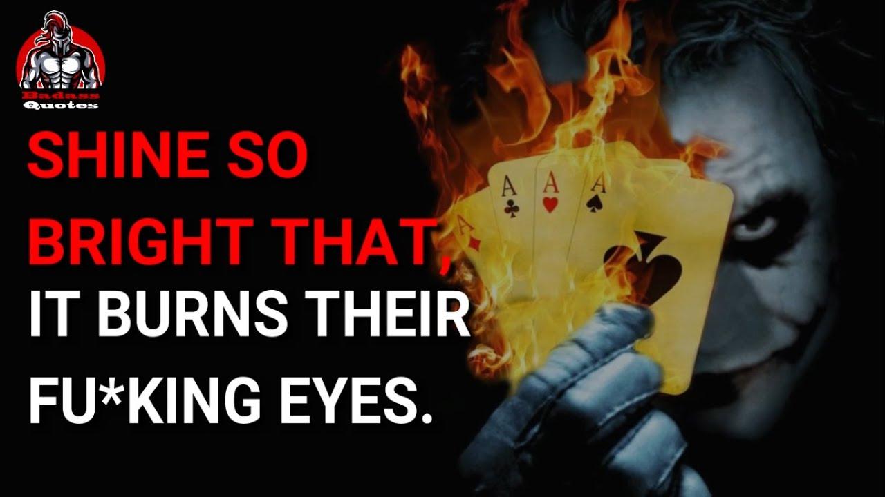 15 Best Joker's attitude quotes | Shine so Bright | Badass quotes