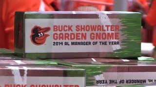 Orioles give away Buck Showalter Garden Gnomes