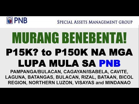 PNB LOTS FOR SALE As Low as P15K to P150K Foreclosed Properties Lots:Farm:Residential Areas