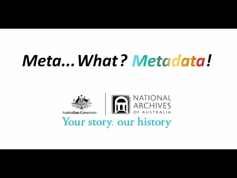 Meta... What? Metadata!
