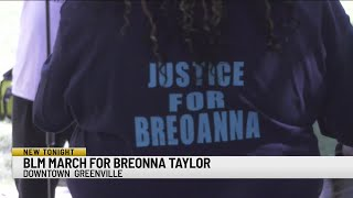 March held in Greenville demands justice for Breonna Taylor