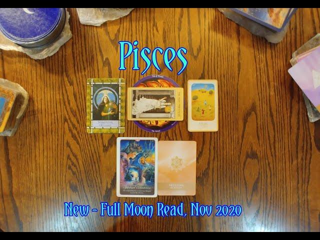 PISCES: NEW - FULL MOON READ - SURRENDER, RELEASE, DELIGHT & RECEIVING ELATION - NOV 2020