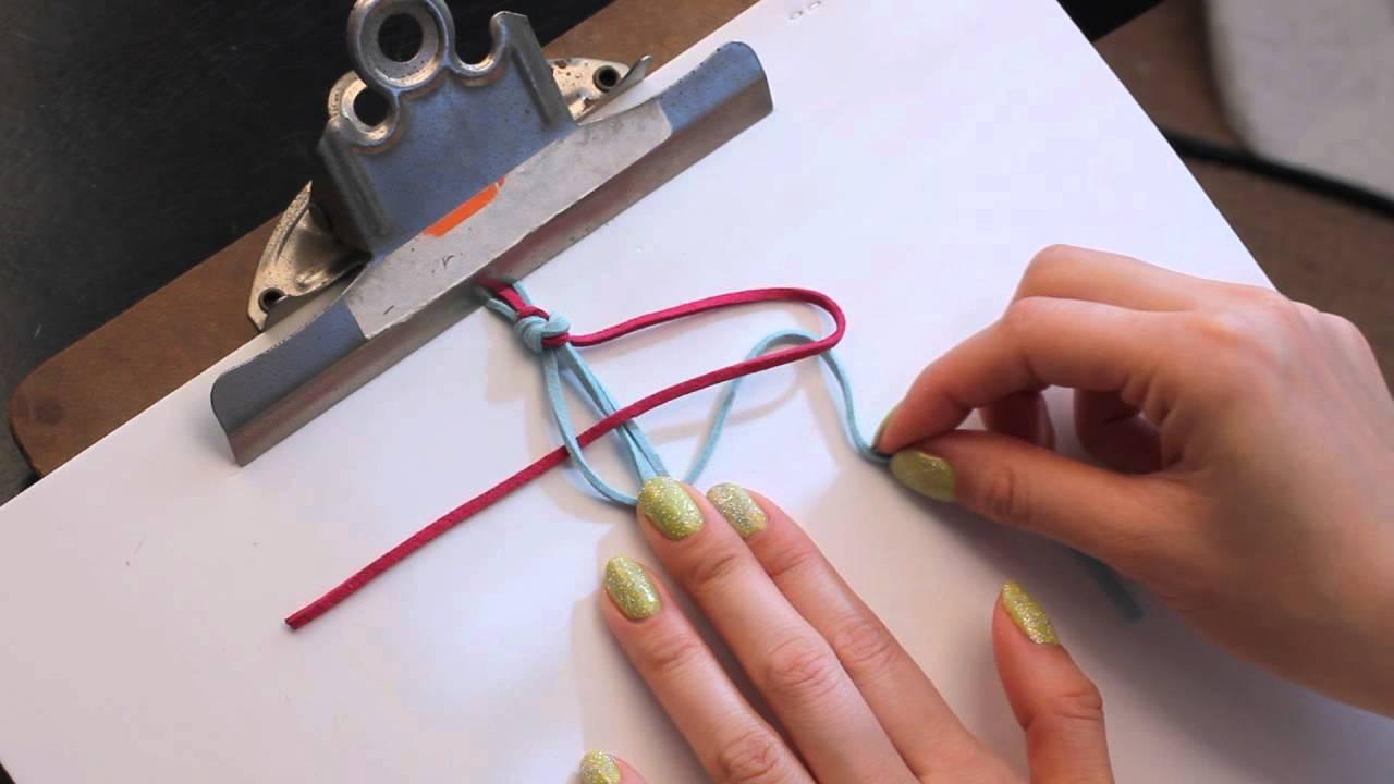 diy how to tie a basic square knot friendship wrap bracelet tutorial youtube. Black Bedroom Furniture Sets. Home Design Ideas