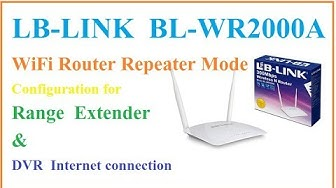 LB Link BL WR2000A WiFi router Repeater Configuration for Range Extenderd