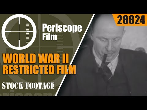 "WORLD WAR II RESTRICTED FILM GERMAN INDUSTRIAL MACHINE ""BEHIND NAZI GUNS""  28824"