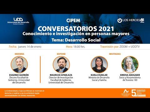 Conversatorio: Conocimiento e investigación en personas mayores   Tema: Desarrollo Social