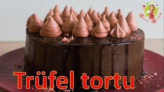 🔵 Trüfel tortunun hazırlanması   Albalı ilə trufel tortu   şokoladlı tort  