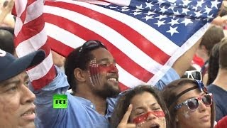 Crowds celebrate US advancing into World Cup knockout stage
