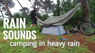 Camping in the Rąin | Heavy Rain on the Hill