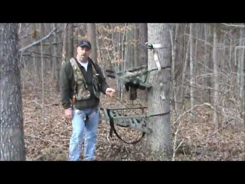 Using A Climbing Treestand And Safety Harness Youtube