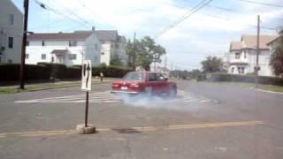 BMW E30 kubak burnout