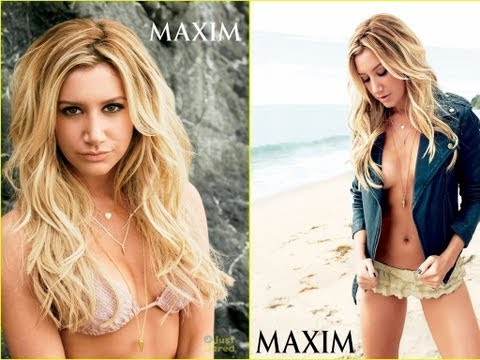 Ashley Tisdale nude photoshoot for Maxim magazine -  2013 (HD)