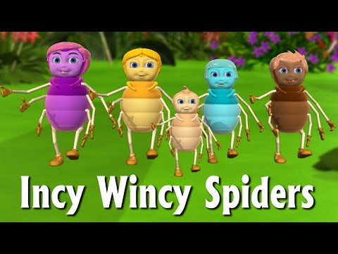 Incy Wincy Spider Nursery Rhyme | Itsy Bitsy Spider  - 3D Animation Rhymes & Songs For Children