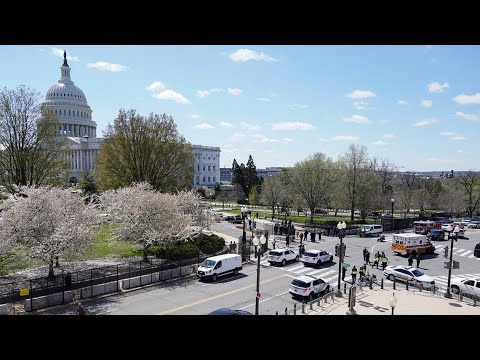 Car rams US Capitol barricade, injuring 2 officers; driver shot