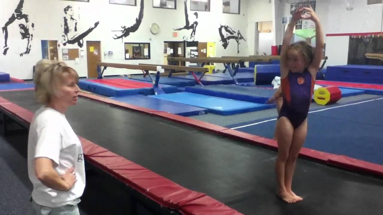 Crazy little gymnast