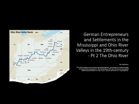 German Entrepreneurs & Settlements on the Mississippi & Ohio Rivers in the 1800s – Pt 2 Ohio Valley