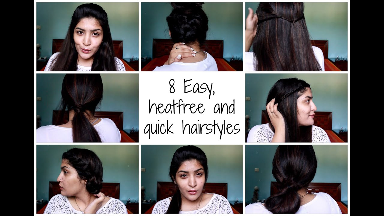 8 Easy Quick & Heatless Hairstyles