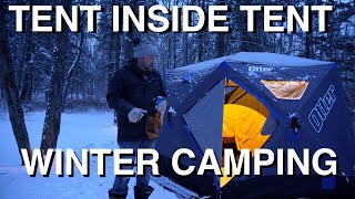 Tent Inside Tent Wiฑter Camping