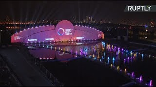 YouTube動画:Circle of Light festival begins in Moscow